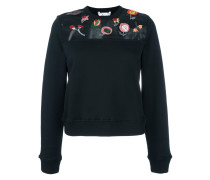 appliqué flower sweatshirt