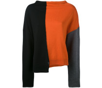 colour block knitted sweater - women