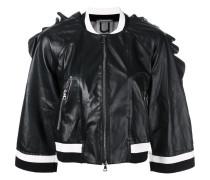 ruffle trim cropped jacket - women