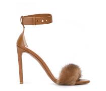 Sandalen mit Nerzbesatz