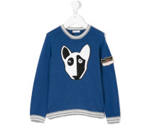 dog print jumper