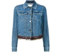 Jeansjacke mit verziertem Saum - Unavailable