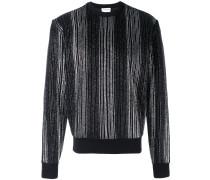 Gestreifter Pullover mit Metallic-Effekt