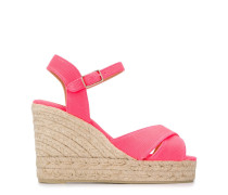Gewebte Wedge-Sandalen
