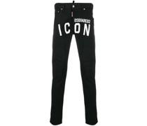 Skinny-Jeans mit Logo
