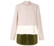 striped colourblock shirt