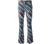 Greca Key print flared trousers