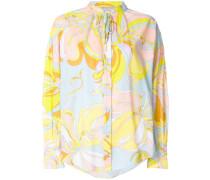 printed shift blouse