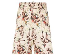 Shorts mit Affen-Print