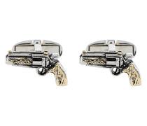 Manschettenknöpfe im Revolver-Design
