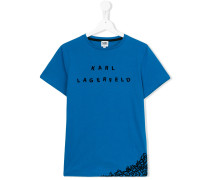 letter scramble print T-shirt - kids