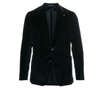 velvet tailored blazer