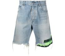 Bozeman Jeans-Shorts mit Batikmuster