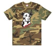 T-Shirt mit Pitbull-Print