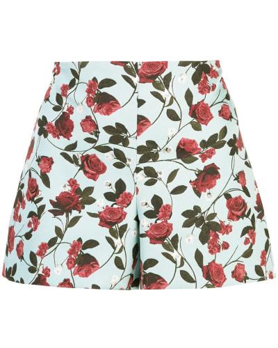 'Sherri' Shorts mit Rosen