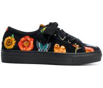 Sneakers mit botanischem Print