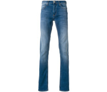 stonewashed slim fit jeans