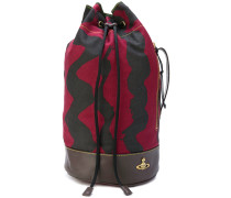 printed drawstring shoulder bag