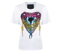 T-Shirt mit verzierter Schlange