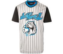 Gestreiftes T-Shirt im Baseball-Look