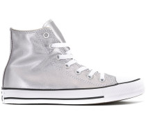 High-Top-Sneakers in Metallic-Optik