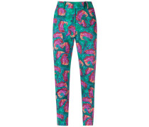abstract print skinny trousers