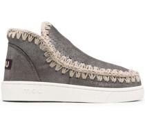 Sneaker-Boots im Metallic-Look