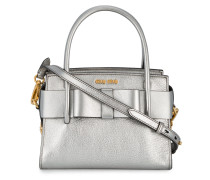 Small Silver Leather Madras tote bag