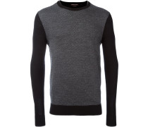 Pullover mit Hahnentrittmuster
