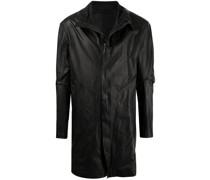 Pertinent longline leather jacket