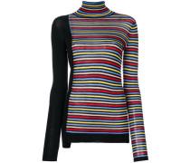 Asymmetrischer Pullover mit Streifen