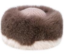 Kaschmir-Mütze mit Pelzbesatz