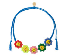 smiley flowers necklace