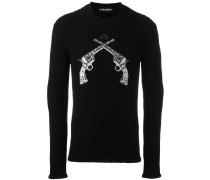 Pullover mit Pistolen-Patches