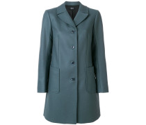 fitted single breasted coat