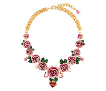 rose-embellished necklace