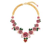 rose embellished necklace