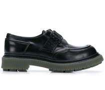 Oxford-Schuhe mit Blockabsatz