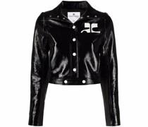 Cropped-Jacke aus Faux-Leder