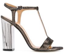 Sandalen mit metallischem Absatz