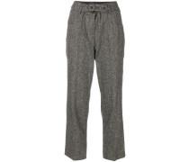Tweed-Hose mit Gürtel