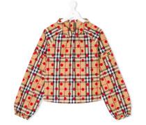 Teen check polka-dot blouse