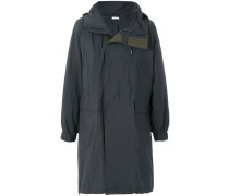 oversized touch fastening parka