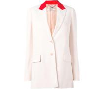 contrast collar blazer