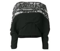 draped graphic panel blouse