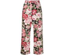 P.A.R.O.S.H. Gerade Jeans mit Blumen-Print