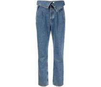 Jeans mit umgeschlagenem Bund