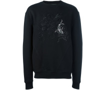 Sweatshirt mit Koi-Stickerei