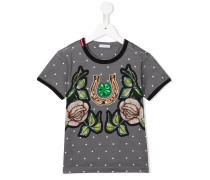 T-Shirt mit Rosen-Prints - kids - Baumwolle - 3