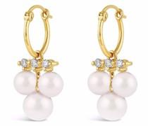 14kt Gelbgoldohrringe mit Perlen